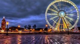 4K Ferris Wheel Wallpaper
