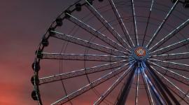 4K Ferris Wheel Wallpaper Background