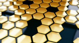 4K Honeycomb Wallpaper Free