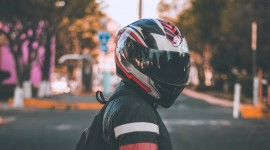 4K Motorcycle Helmet Photo Download