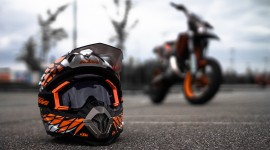 4K Motorcycle Helmet Wallpaper Free