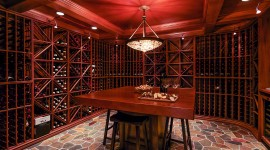 4K Wine Cellar Desktop Wallpaper
