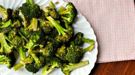 Baked Broccoli Wallpaper Background