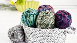 Multi-Colored Yarn Photo Free