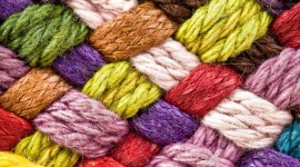 Multi-Colored Yarn Wallpaper For Android