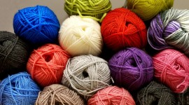 Multi-Colored Yarn Wallpaper For PC