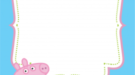 Peppa Pig Frame Wallpapers High Quality Download Free
