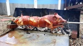 Pig On A Spit Wallpaper Download