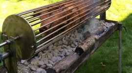 Pig On A Spit Wallpaper For IPhone Download