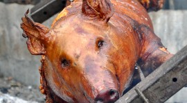 Pig On A Spit Wallpaper For IPhone Free