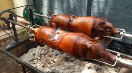Pig On A Spit Wallpaper Free