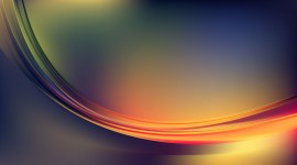 Waves Multi-Colored Abstraction Full HD