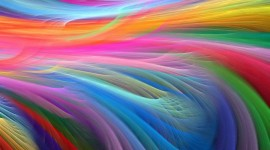 Waves Multi-Colored Abstraction Photo