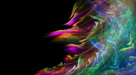 Waves Multi-Colored Abstraction Wallpaper