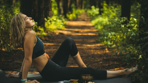 Yoga In The Forest wallpapers high quality
