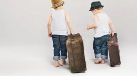 4K Baby Suitcase Desktop Wallpaper HD