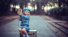 4K Baby Suitcase Photo Download