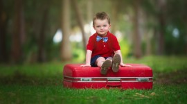 4K Baby Suitcase Wallpaper
