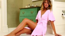 4K Woman Bathrobe Wallpaper