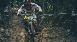 Downhill Cycling Wallpaper Background