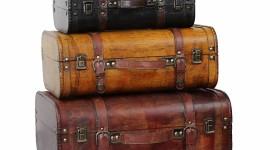 Old Suitcases Desktop Wallpaper