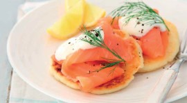 Pancakes With Salmon Full HD