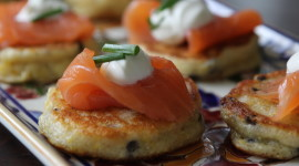 Pancakes With Salmon Photo Free