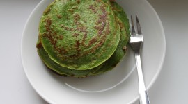 Pancakes With Spinach Image
