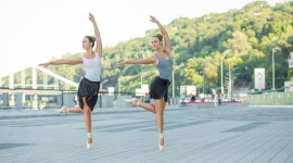 Ballet On The Street High Quality Wallpaper