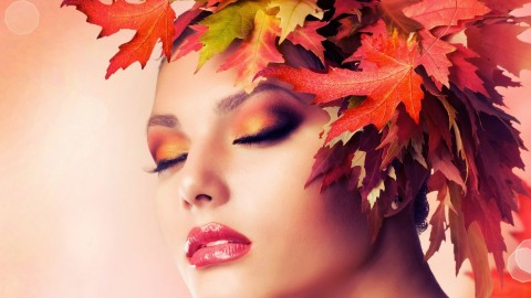 Model Autumn Wreath wallpapers high quality