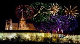 Prague For The New Year Desktop Wallpaper HD