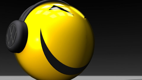 Smiley With Headphones wallpapers high quality