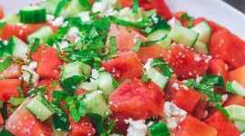 Watermelon Cheese Salad For IPhone