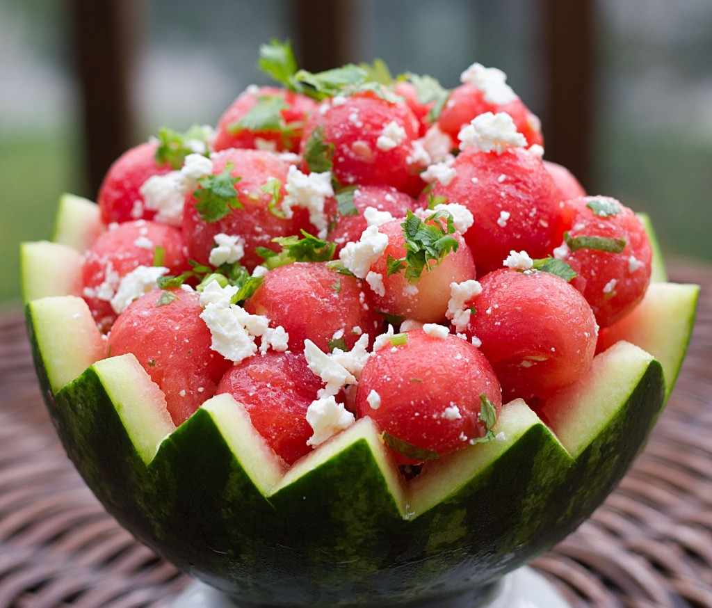 Watermelon Cheese Salad wallpapers HD