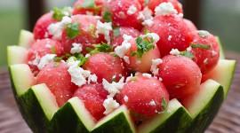 Watermelon Cheese Salad Wallpaper
