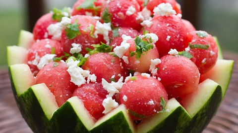 Watermelon Cheese Salad wallpapers high quality