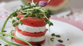 Watermelon Cheese Salad Wallpaper HQ