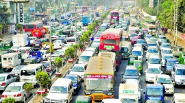 4K City Traffic Jams Wallpaper