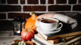4K Coffee Autumn Wallpaper Free