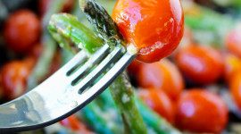 Asparagus Tomatoes Wallpaper For IPhone#1