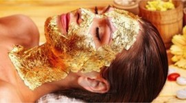 Gold Face Mask Wallpaper For PC