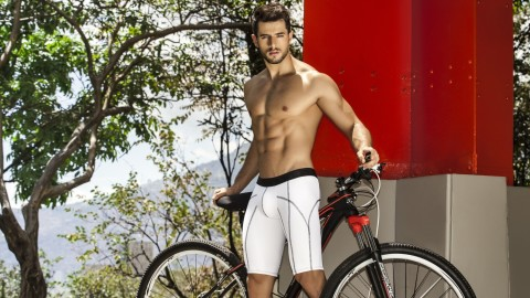 Male Model Bicycle wallpapers high quality