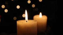 Night Candles Desktop Wallpaper