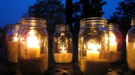 Night Candles Wallpaper HQ