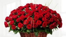 Roses In Basket Wallpaper