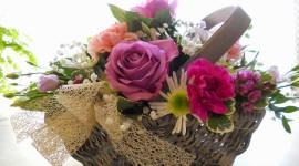 Roses In Basket Wallpaper For PC