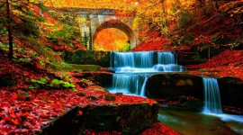 4K Autumn Bridge Wallpaper 1080p
