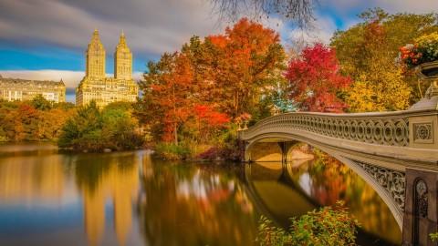 4K Autumn Bridge wallpapers high quality