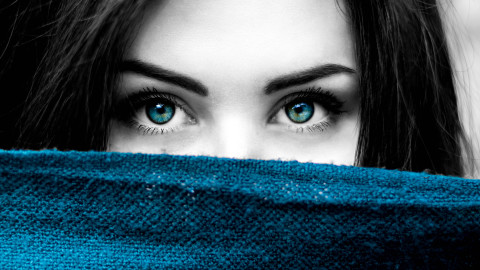 4K Big Blue Eyes wallpapers high quality
