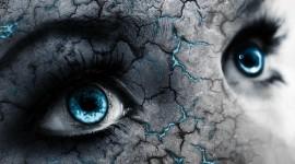 4K Big Blue Eyes Image Download